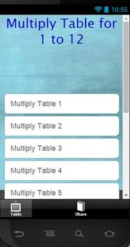 Multiply Table poster