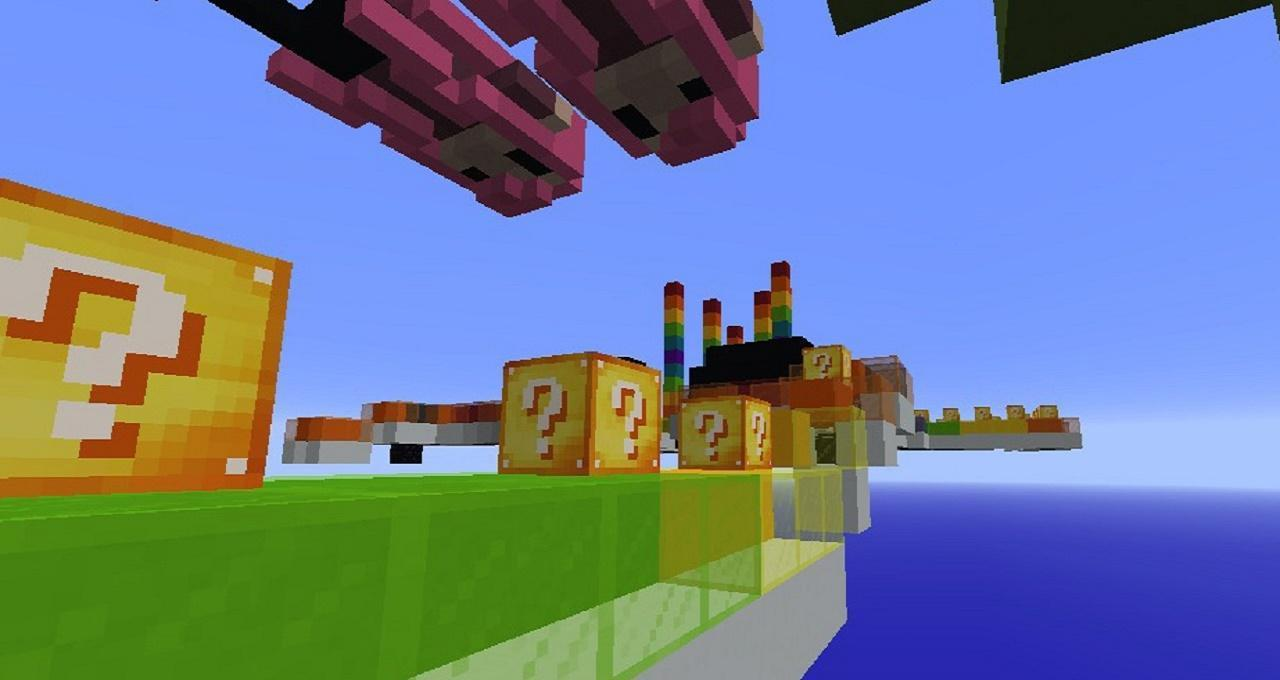 minecraft rainbow lucky block race map download