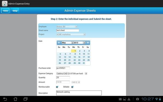 Dovico Admin Expense Entry screenshot 6