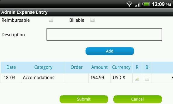 Dovico Admin Expense Entry screenshot 2