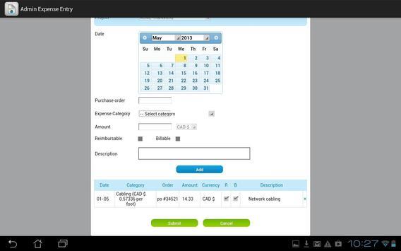 Dovico Admin Expense Entry screenshot 3