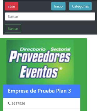 Directorio Proveedores de Eventos DPE apk screenshot