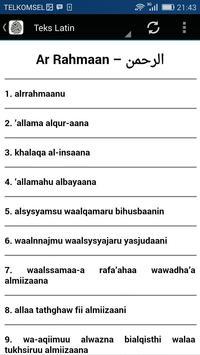 Surah Ar-Rahman & Terjemahan apk screenshot