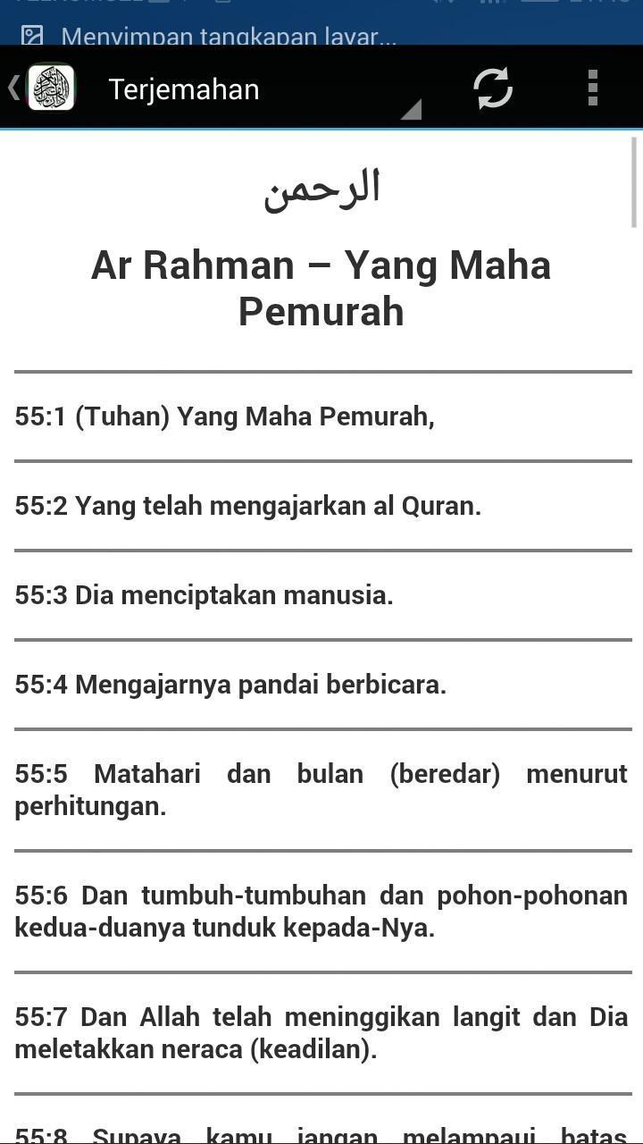 Surah Ar Rahman Terjemahan For Android Apk Download