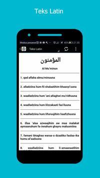 Surah Al-Mu'minun & Terjemahan apk screenshot