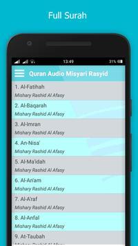 Quran Audio Misyari Rasyid apk screenshot