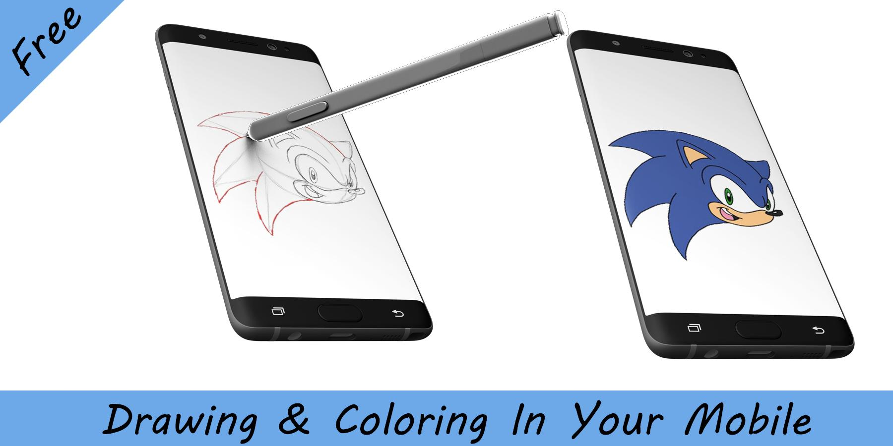 How To Draw Sonic The Hedgehog For Android Apk Download