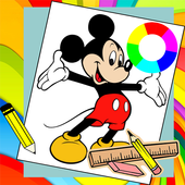 How to Draw Mickey Mouse icon