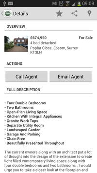 Oaks Lettings and Sales Epsom poster