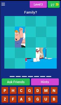 Family Guy Guess the character apk screenshot