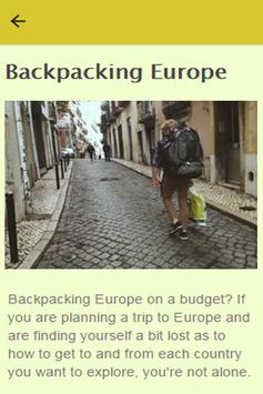How To Backpack Europe poster