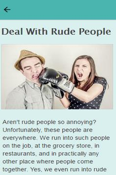 How To Deal With Rude People poster