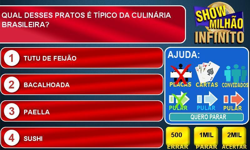 Jogo Infinito Show Do Milhao Para Android Apk Baixar