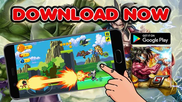 Super Goku Saiyan Dragon Fight 2017 apk screenshot