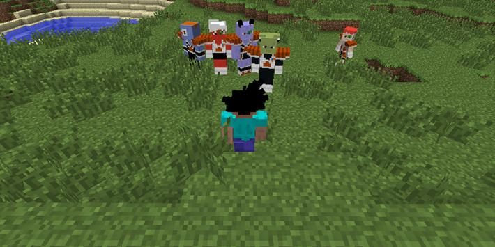 Saiyan Mod DBZ for Minecraft poster
