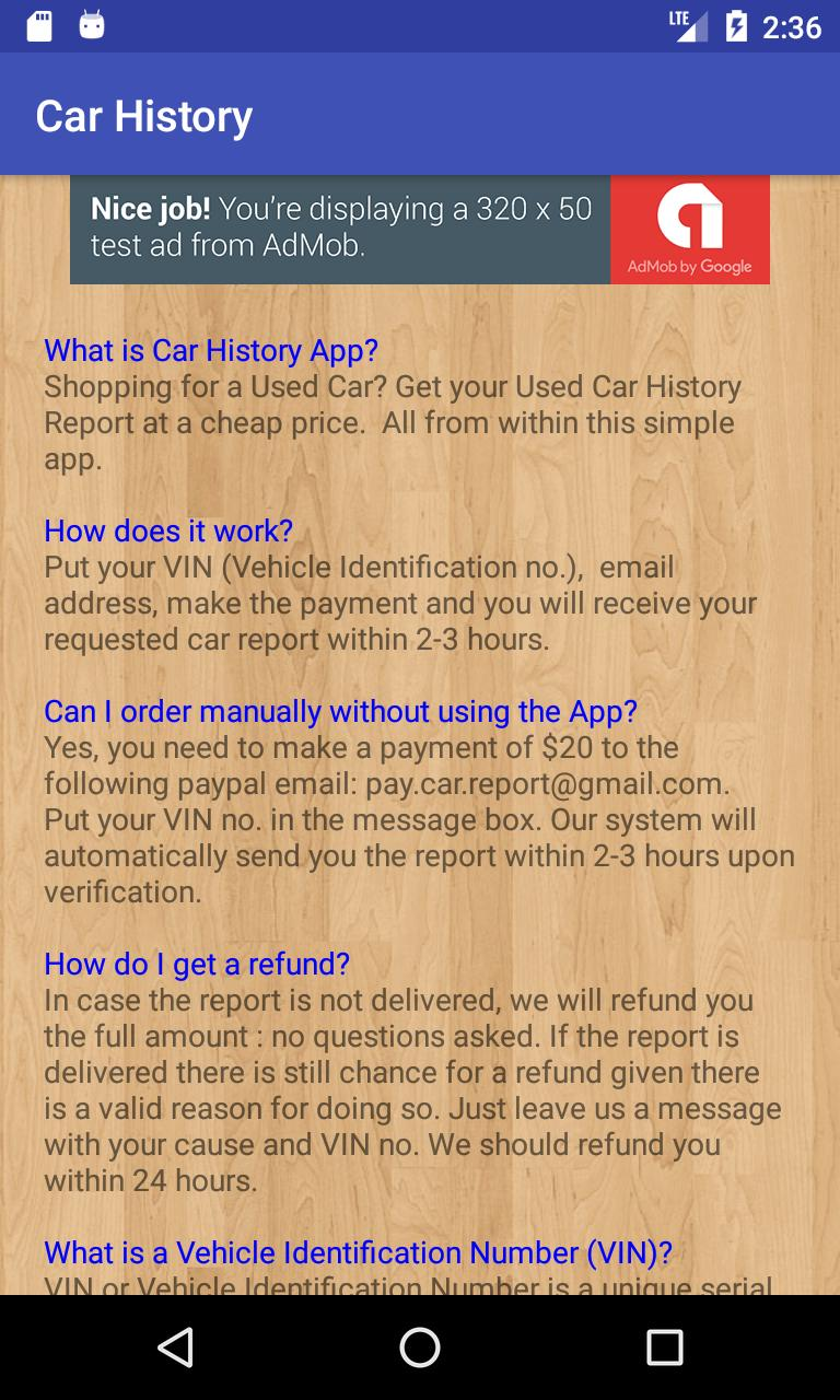 Car History - $20 Carfax Report for Android - APK Download