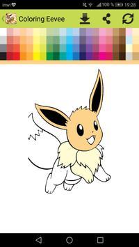 Eevee Evolution Coloring book screenshot 1