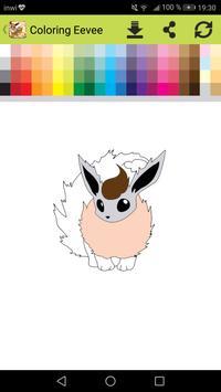 Eevee Evolution Coloring book screenshot 3