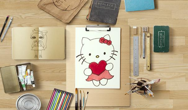 learn how to draw and coloring Cute cartoons screenshot 5