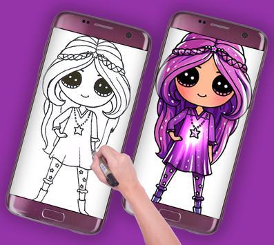 how to draw american doll girls screenshot 3