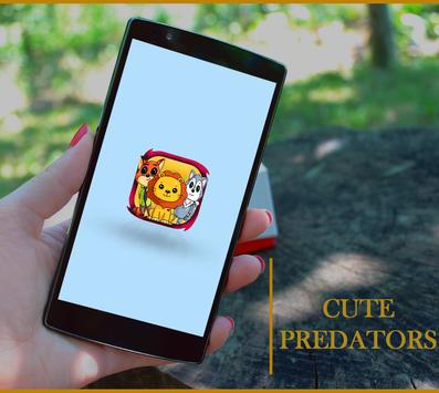 how to draw cute predators animals poster