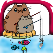 how to draw cute pusheen cat toy icon