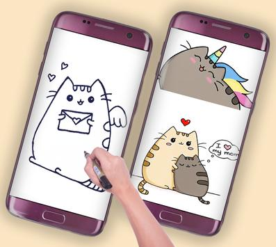 how to draw cute pusheen cat toy poster