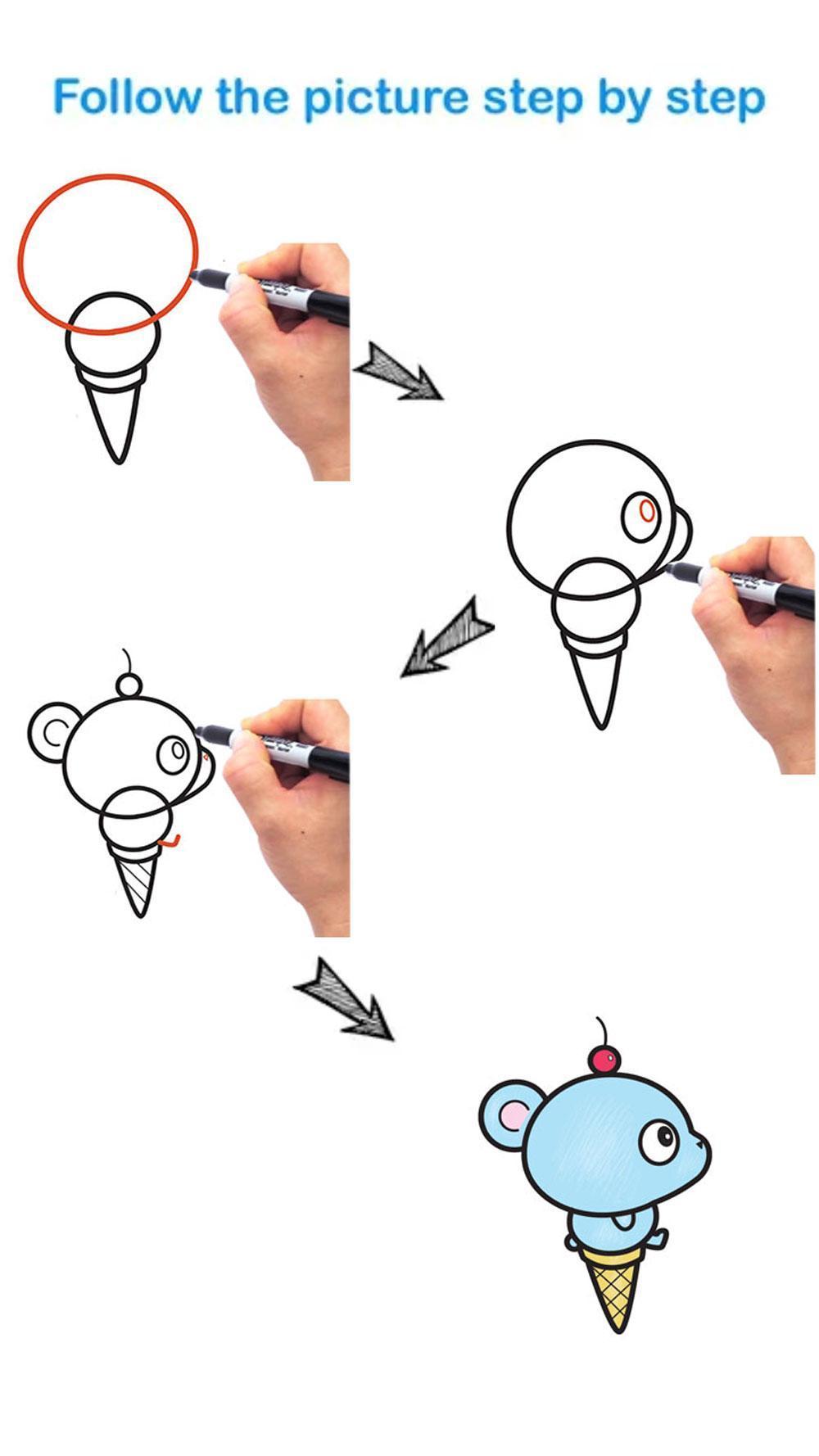 Comment Dessiner Facilement La Crème Glacée Pour Android