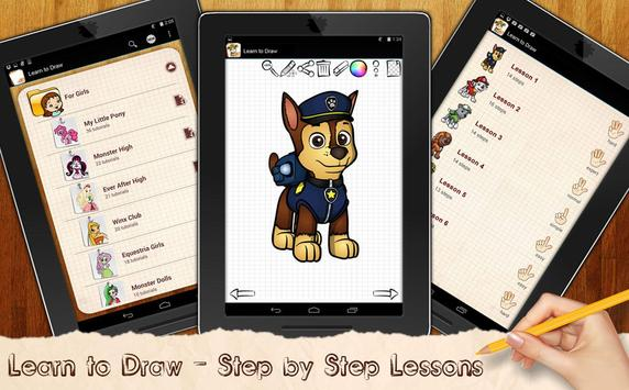 Learn to Draw PAW Patrol poster
