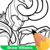 How To Draw Villians icon