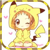 How to draw kawaii chibi anime icon