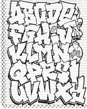 Draw a Graffiti Letter A-Z poster