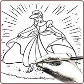 draw beautiful ice princess icon