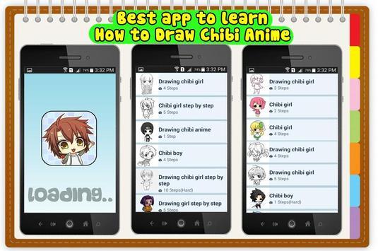 How to Draw Chibi Anime kawaii poster