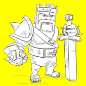 How To Draw Clash of Clans icon