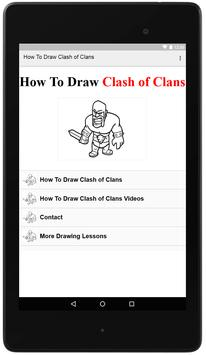 How To Draw Clash of Clans poster
