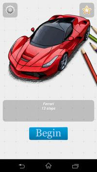 How to draw Car poster