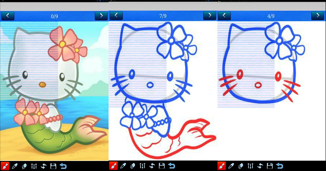 how to draw kitty poster