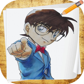 How To Draw Detective Conan icon