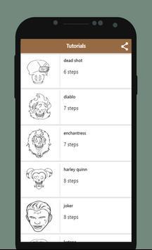 How to Draw Suicide Squad apk screenshot