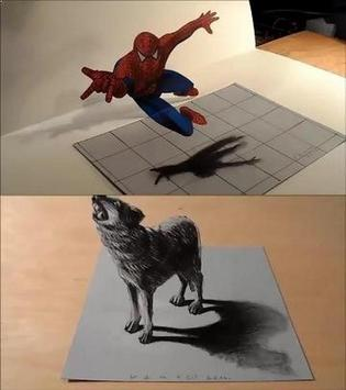 3D drawing tutorial apk screenshot
