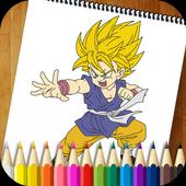 Dragon Coloring Book Goku icon