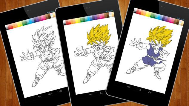 Dragon Coloring Book Goku poster