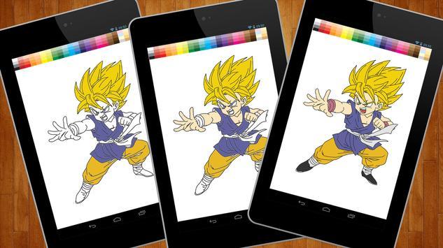 Dragon Coloring Book Goku apk screenshot