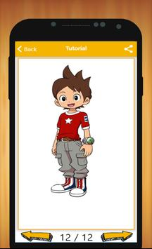 How to Draw Yo kai Watch Characters Step By Step apk screenshot