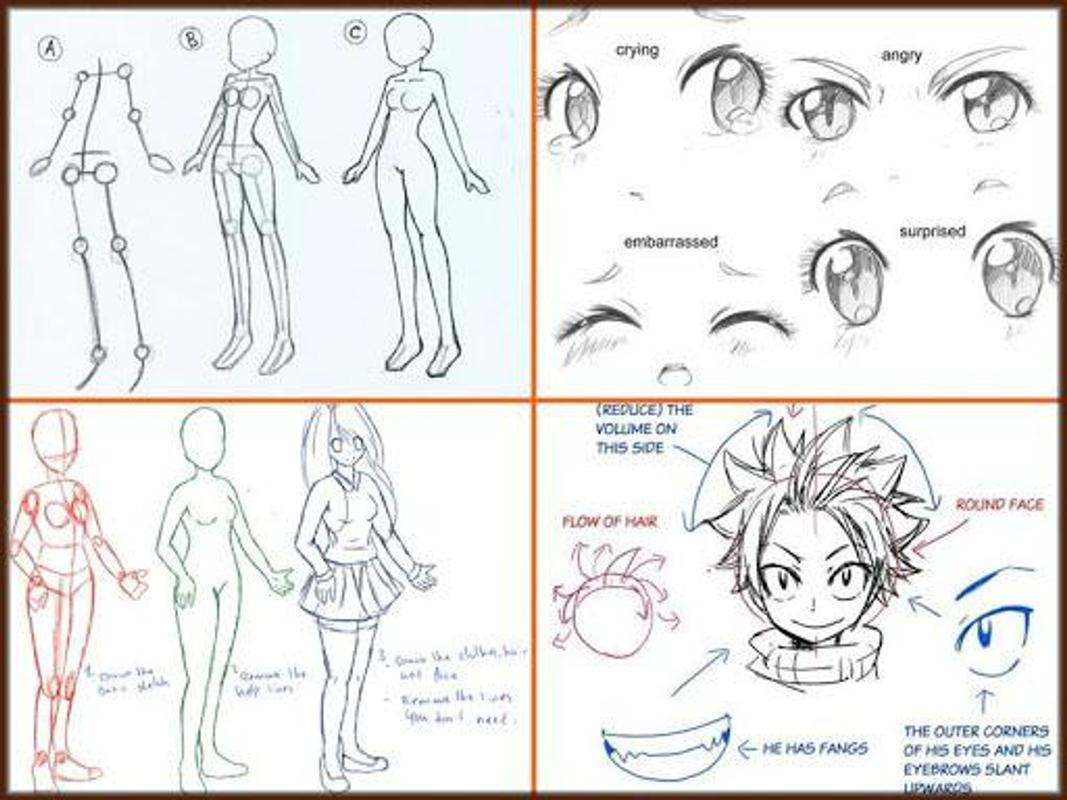 apk drawing anime step by step