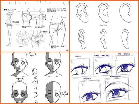 Drawing anime step by steps apk screenshot