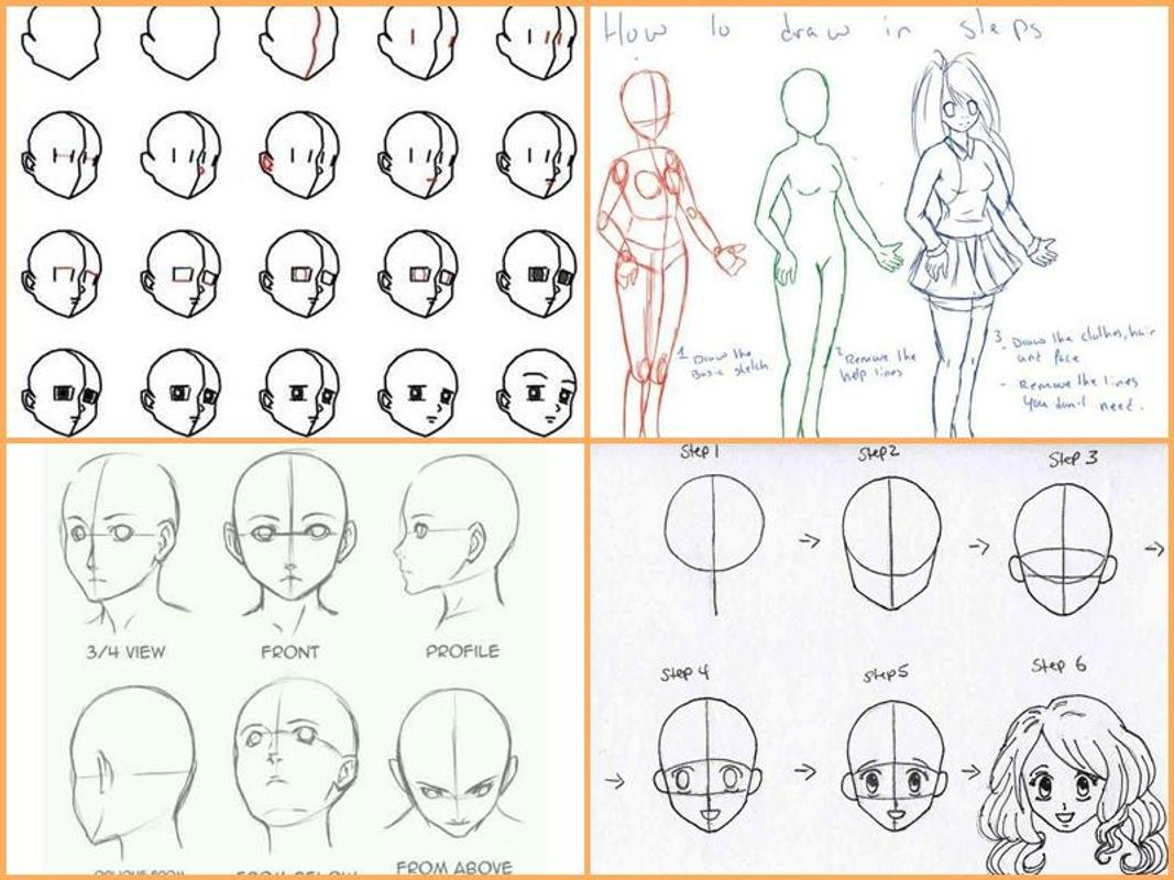 Drawing anime step by steps poster