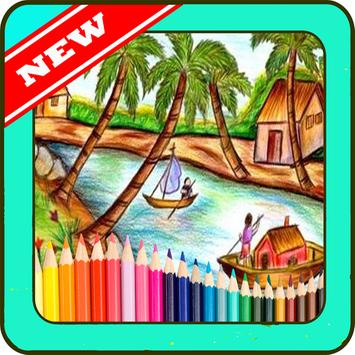 drawing beautiful scenery apk screenshot