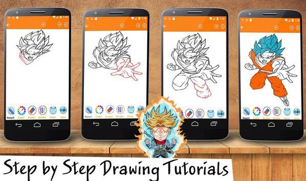 How To Draw DBZ super screenshot 1